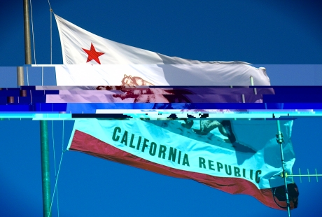 California Flag Glitch Art
