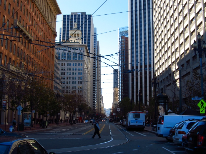 Down Market Street in San Francisco