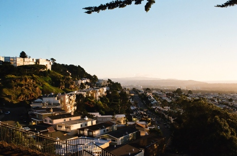 More film shots, this is of the Sunset District looking south from Grandview Park, the place is like a cliffside facing the ocean.