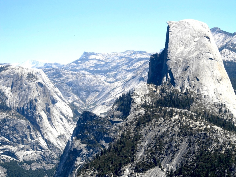 Half Dome towers over the valley