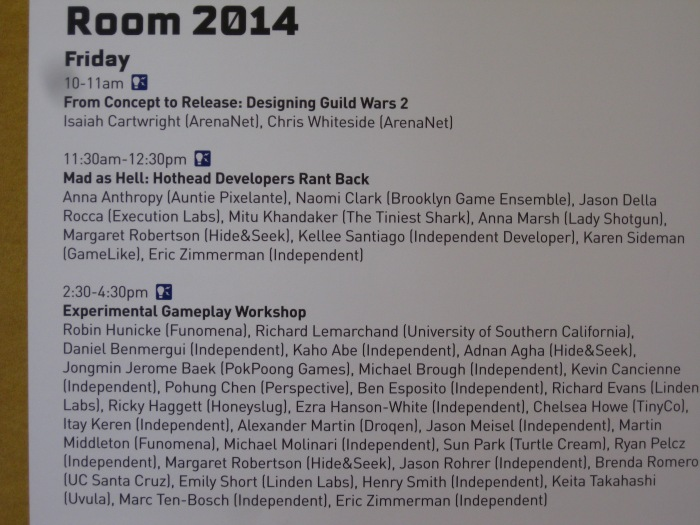 What transpired in Room 2014 at 2013's GDC will be important in years to come.