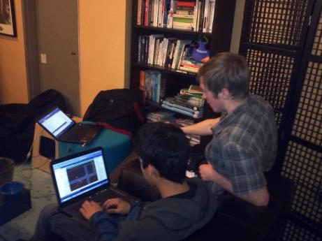 A picture of my team from my first Global Game Jam.